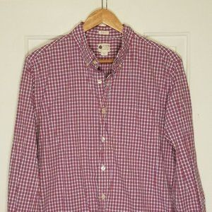 J. Crew Tailored Fit Checkered Button Down Shirt
